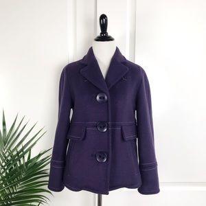 Marc Jacobs Purple Oversized Button Wool Jacket